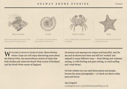 Solway Shore Stories website