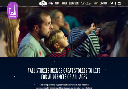 Tall Stories website